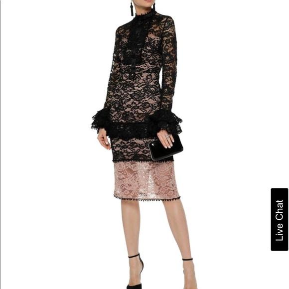 f0d07be03fc3 Alexis Dresses | Dress Beverly Black And Blush Midi | Poshmark